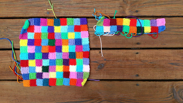 crochet panels of crochet squares