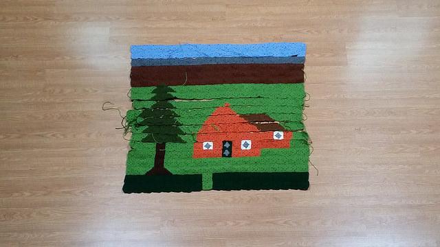 crochet center panel