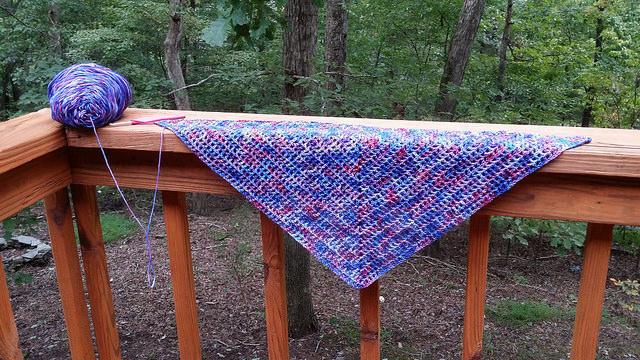 future crochet scarf
