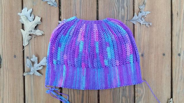grape fizz crochet hat