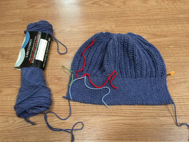 denim blue crochet hat