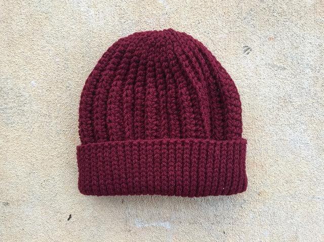 claret crochet cap
