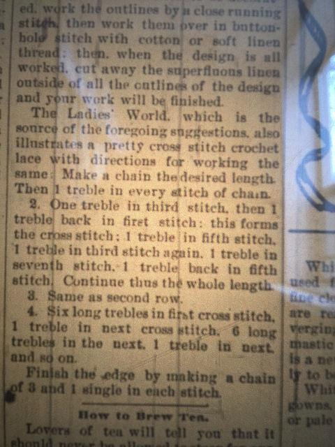 crochet pattern 1899