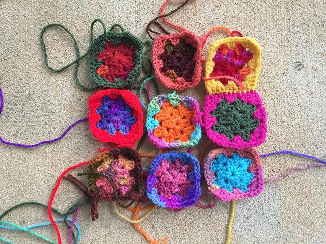 crochetbug, crochet squares, granny squares, crochet purse, granny square purse