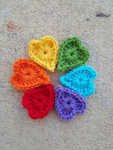 A rainbow of boho heart centers on a housebound weekend