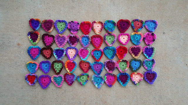 Forty-five boho hearts to- be, waiting for Wednesday and for the third round
