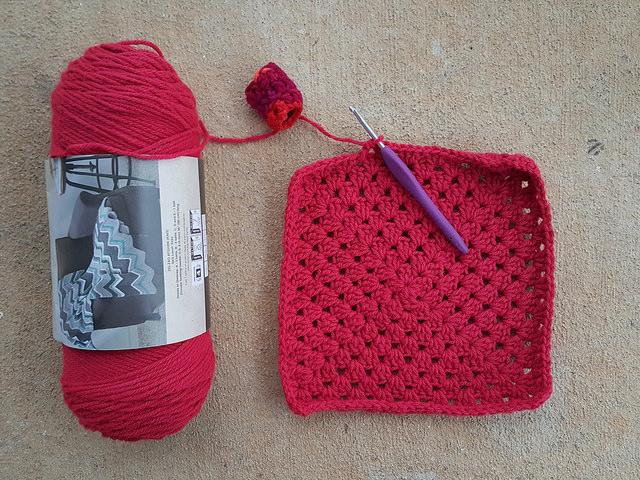 scarlet big twist yarn