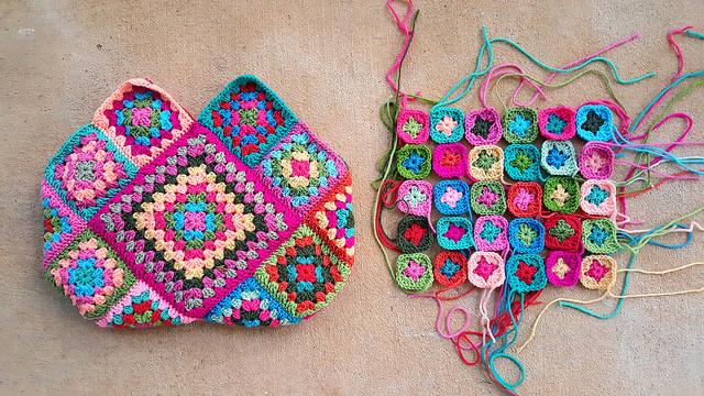 crochet bag crochet squares