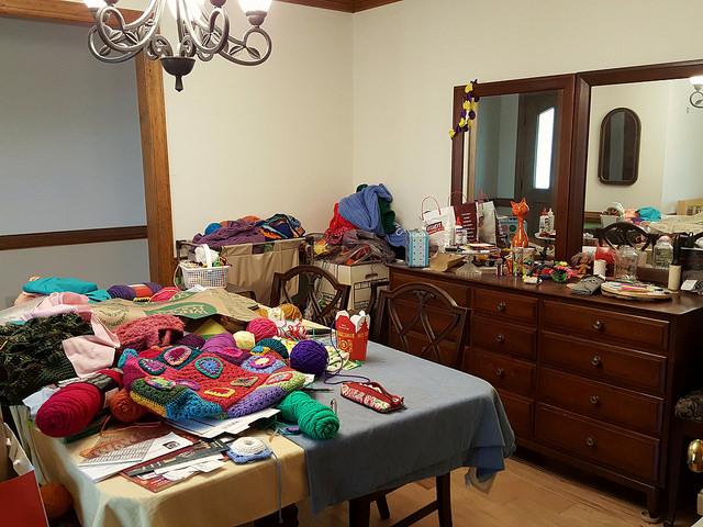 the nerve center of my crochet empire