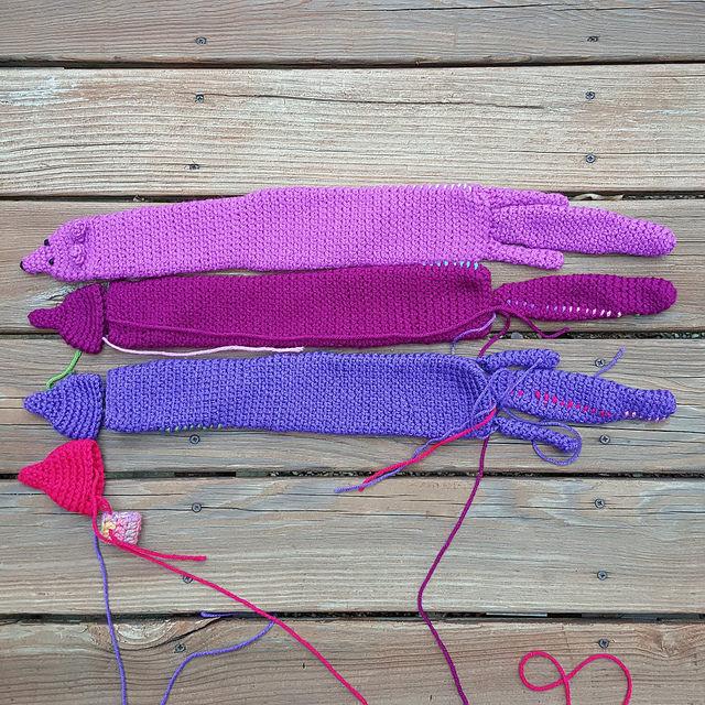 four future crochet minks