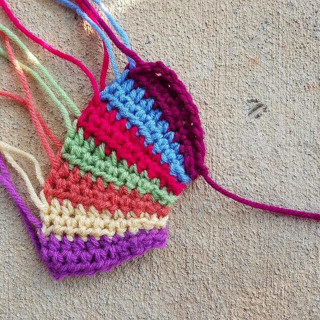 crochet fan motif