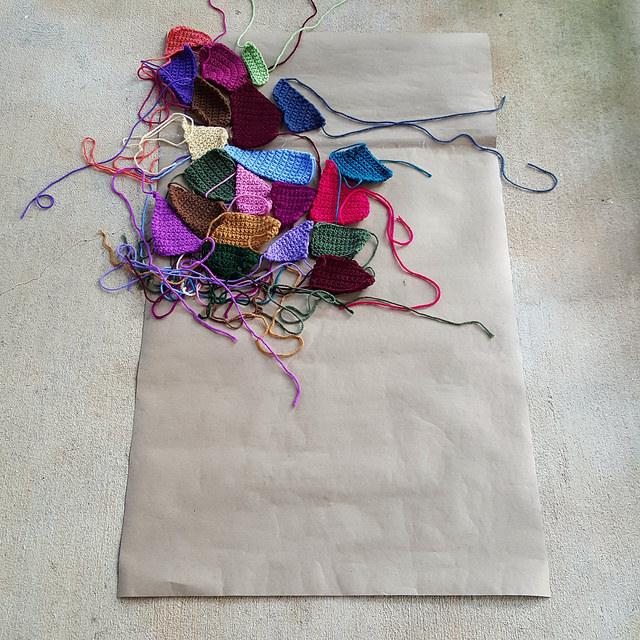 crochet blanket panel