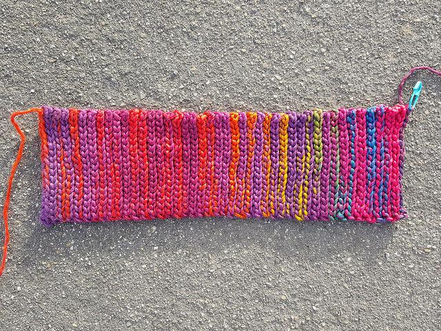 crochet ear warmer nearly done