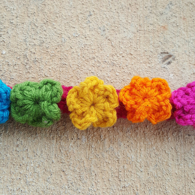 front of the crochet purse strap