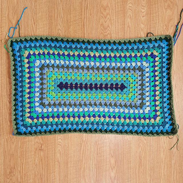 crochet granny rectangle blanket