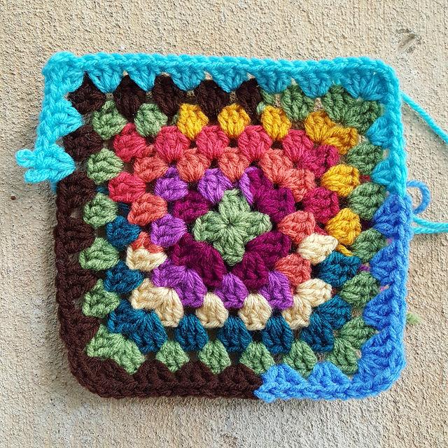 scrap crochet granny square