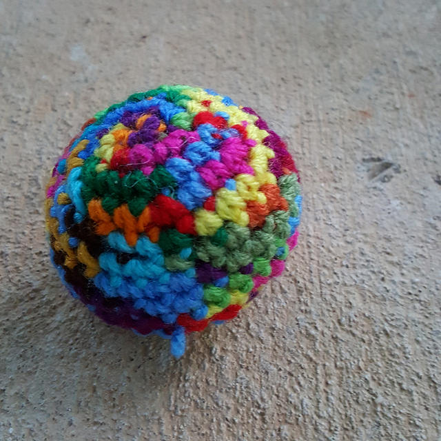 scrap yarn crochet ball