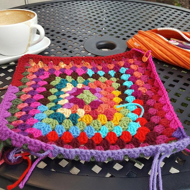 scrap crochet square
