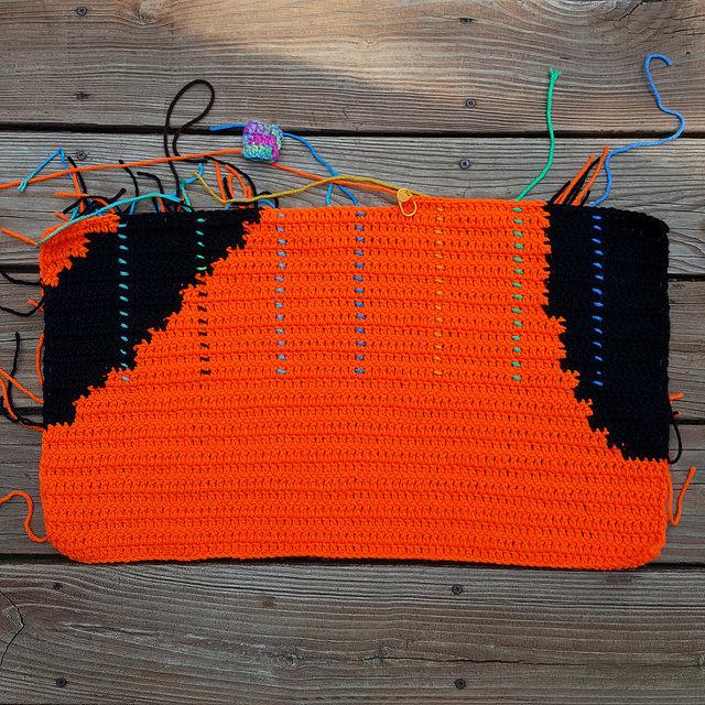 crochetbug, Olek, Love Across the USA, double crochet, crochet panel