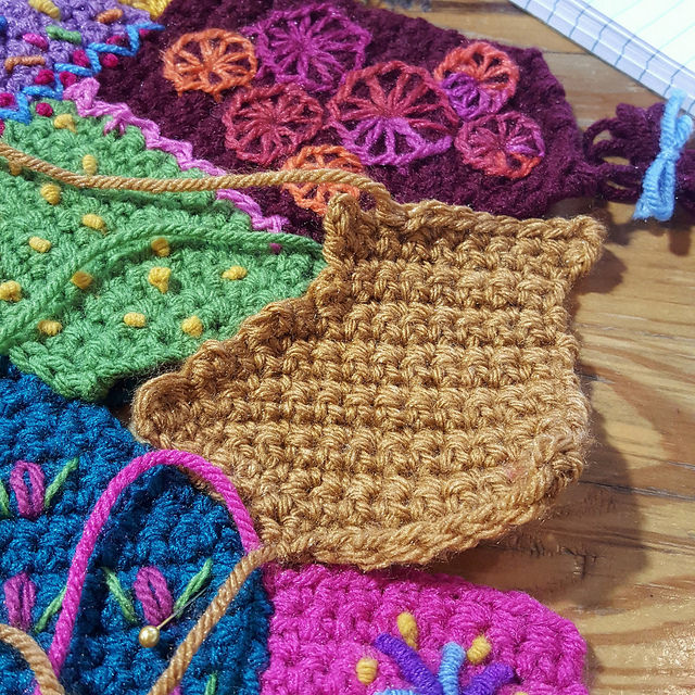 A custom crochet piece made at a coffee shop then I was ready to do the next thing