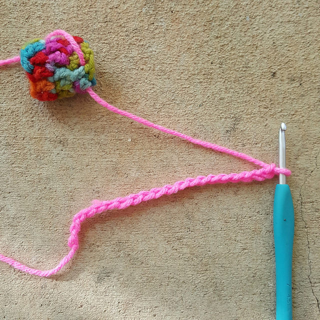 The first thing you need to do to crochet like Olek is chain 20