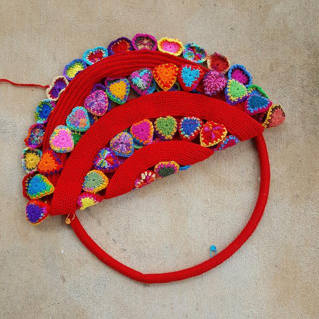 crochetbug, crochet mandala, crochet heart, crochet motifs, crochet ring