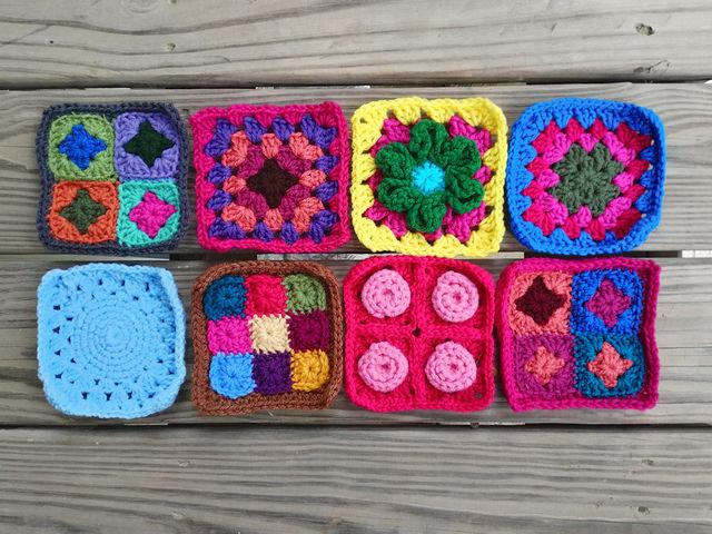 crochetbug, crochet flower, crochet flowers, crochet remnant, crochet square, granny square