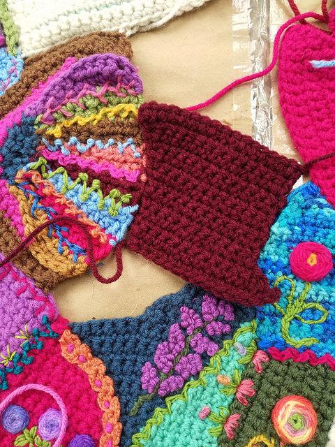 A somewhat Missour-esquei shaped crochet piece