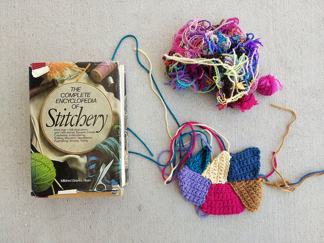 Preparing to practice my embroidery skills so I do not have to reinvent the crochet wheel yet again