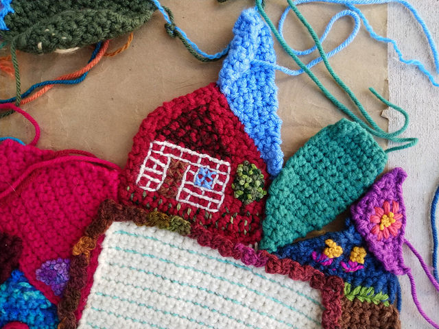 My new focus are for the crochet crazy quilt panel