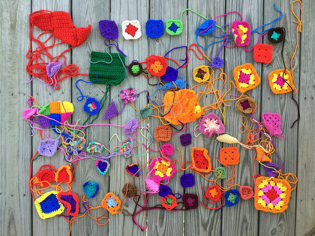 A cache of crochet remnants