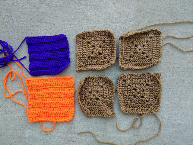 Six hurry-up crochet remnants to be rehabbed