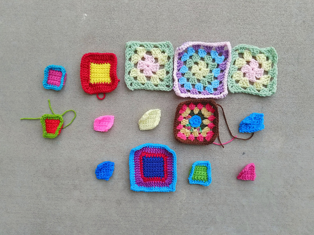 What had been fifteen crochet remnants before one of them had gone missing
