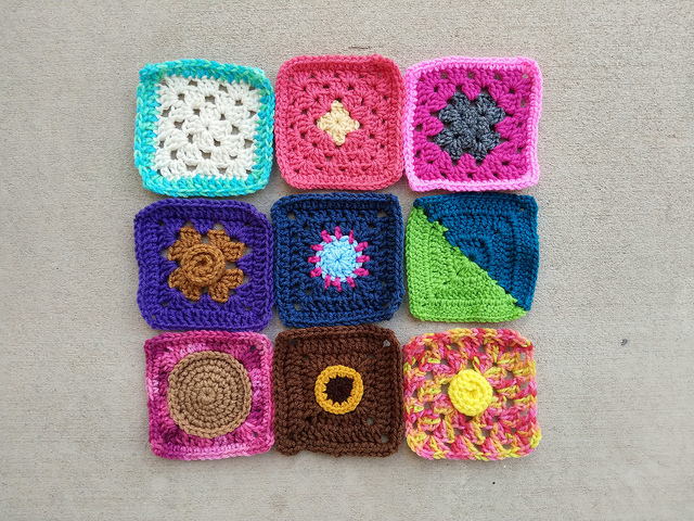 A second nine-patch of rehabbed squares made whole