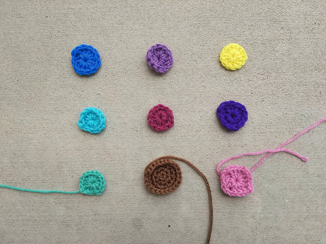 Another nine patch of crochet remnants