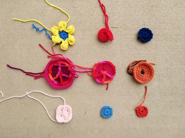 Nine more crochet remnants ready for rehab