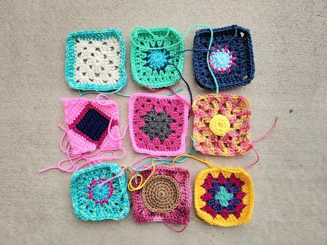 Waiting room ready rehabbed crochet squares