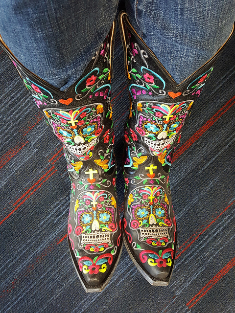 The same boots as they appear to others