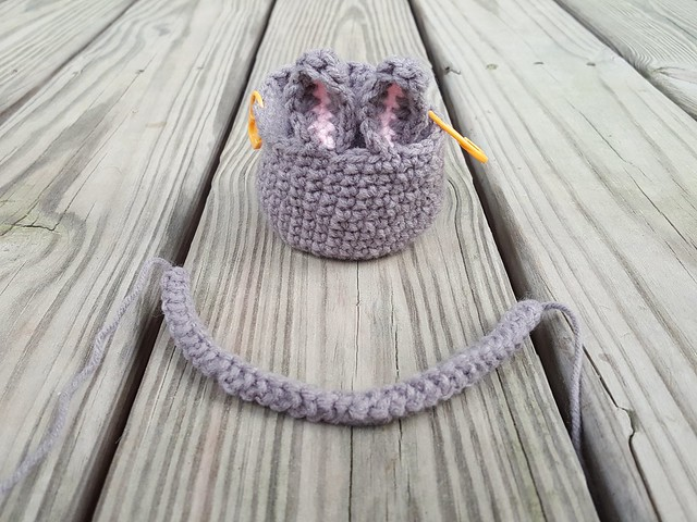 Modest progress on a future crochet bunny basket