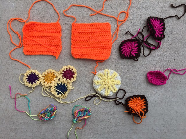 A baker's dozen of newly unearhted crochet remnants