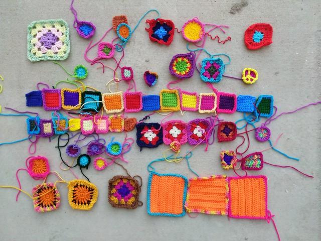 Progress on fifty-two crochet remnants