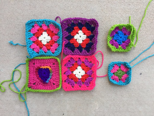 Six granny squares