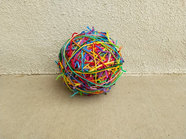 The ever growing scrap yarn ball