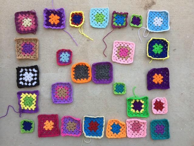 Mid second-round rehab of twenty-seven crochet remnants