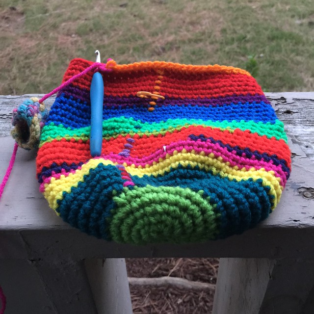 The first thirty-six rounds of my crochet detour