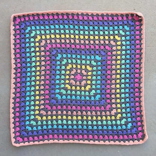 I finish my Sunday crochet eight rounds shy of done