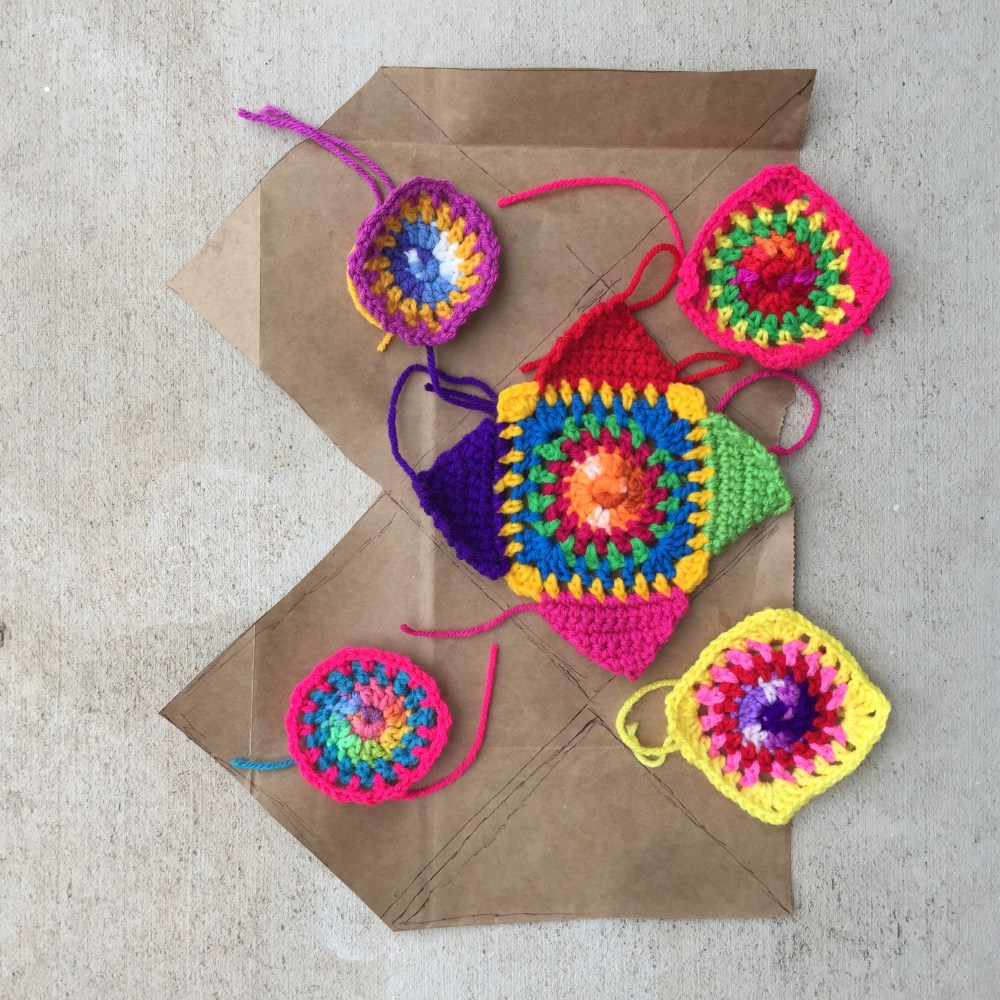 The shape of a new crochet purse