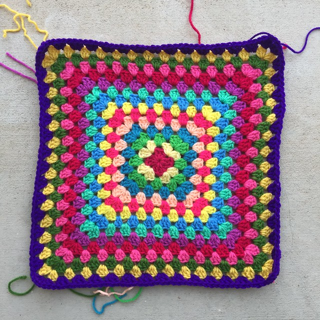 Two more crochet decisions about what color two use helped me reach the fifteenth round of of a thirty-six round granny square blanket