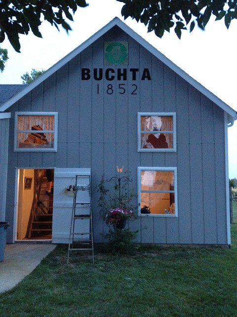 One of the farm buildings out at the Buchta Sesquicentennial Farm