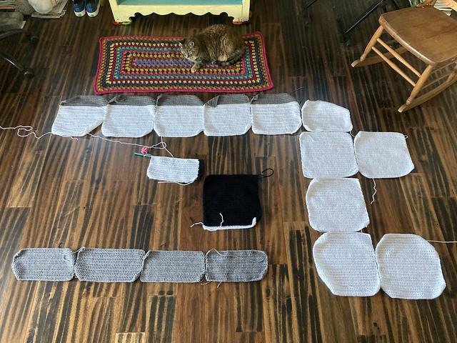 "My progress on the ""my last door"" yarn bomb"